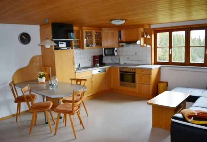 Wohnküche Grüntenblick mit Panoramafenster