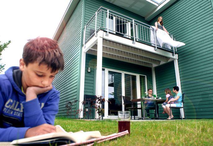 Premiumhaus Ansicht Balkon & Terrasse