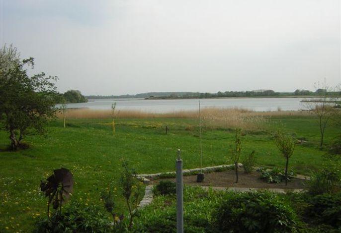 Blick vom großen Garten direkt auf die Schlei