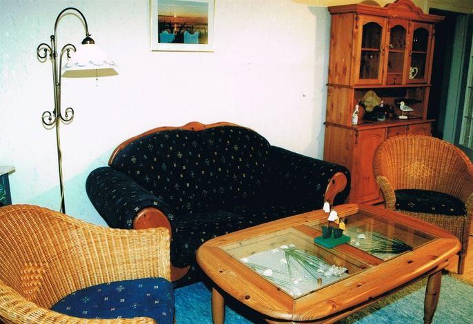 Wohnzimmer Ferienwohnung Hallig Langeneß