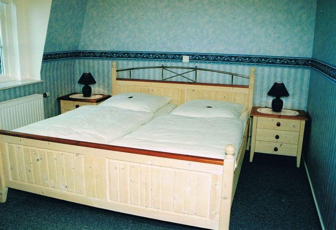 Schlafzimmer Ferienwohnung Hallig Südfall