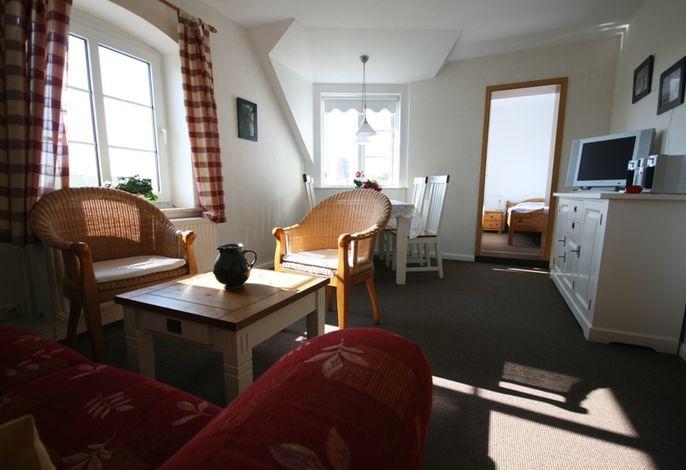 Wohnzimmer Ferienwohnung Hooge