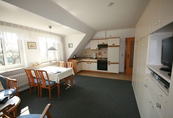 Wohnzimmer Ferienwohnung Hallig Süderoog