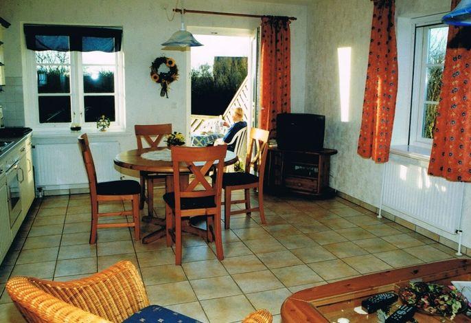 Wohnzimmer Ferienwohnung Hallig Habel