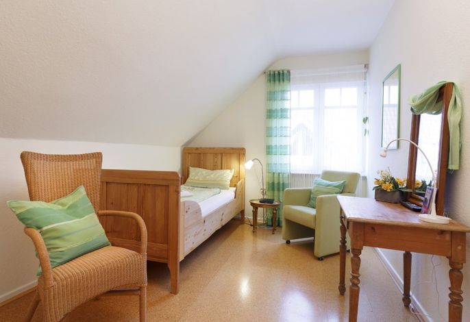 Grünes Zimmer - Bett