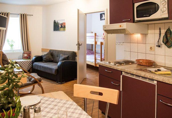 Fewo Hund: Wohnraum mit Küche
