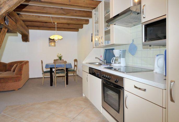 De Schmitt: Wohnraum mit Küche