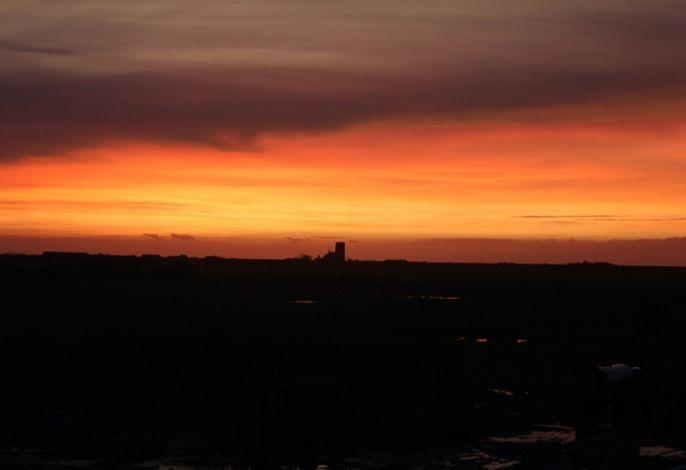 Einen Sonnenuntergang genießen