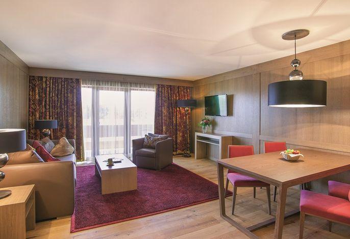 Hotel Eisvogel Bad Gögging Juwel Suite Wohnraum