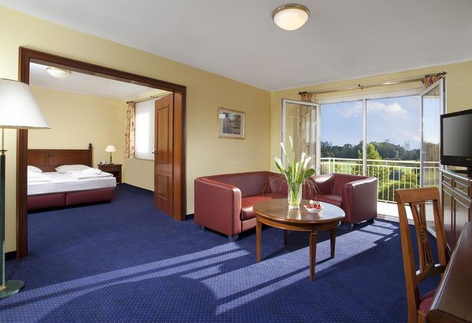 Deluxe Suite mit Doppelbett, Golfplatzseite