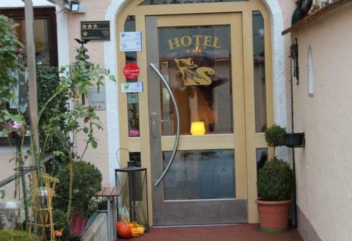 Hoteleingang Hotel garni Fuchs