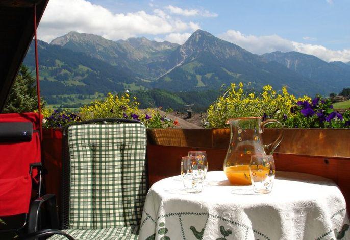 Aussicht von der großen Ferienwohnung auf die Oberstdorfer Berge