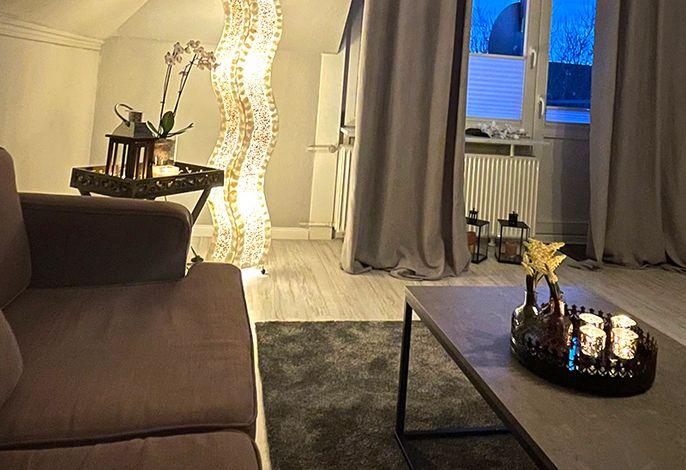 Modern eingerichter Wohnraum