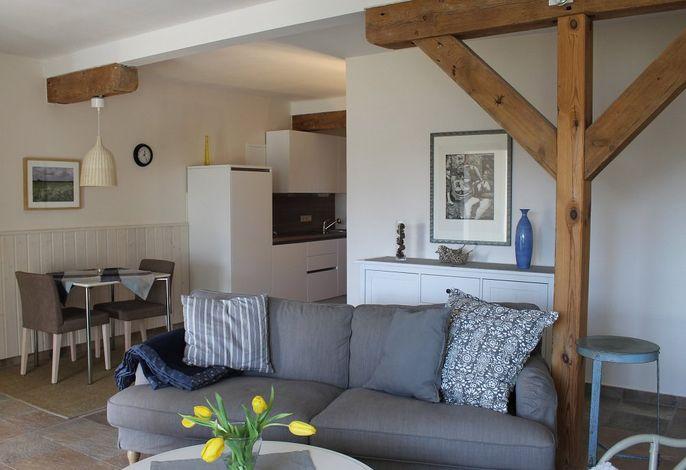 Fewo Blaubeere: Wohnraum mit Küche