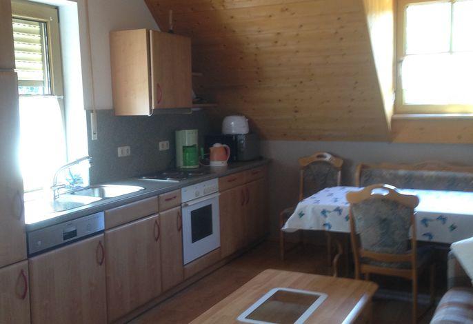 Ferienwohnung Stahl - Küche