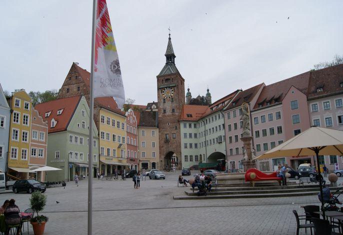 Marktplatz direkt um die Ecke