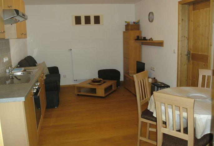 Innenhof Wohnraum, Küche