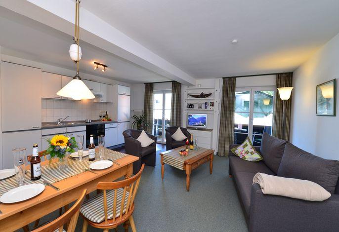 Wohnzimmer Apartment 303 gipfelGLÜCK