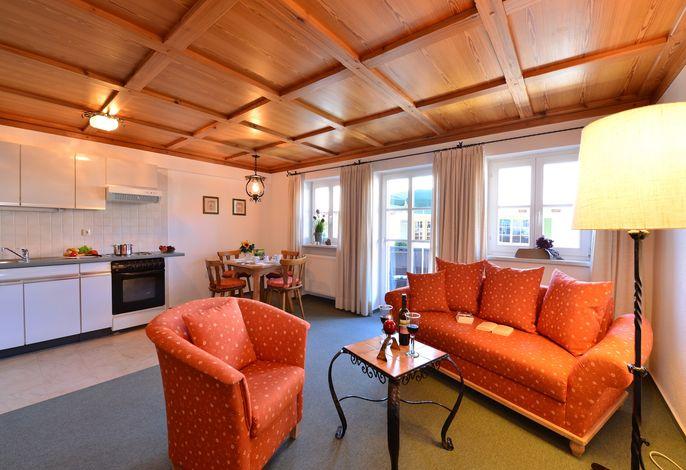 Wohnzimmer/Küche Apartment 302 alpOASE