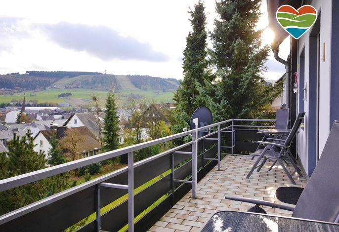 Fewo Ettelsberg-Panorama**** - Süd-Balkon mit Aussicht