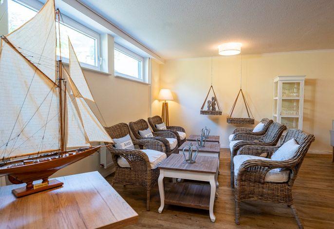 Gemütliche Lounge zum Entspannen, Plauschen und Verweilen