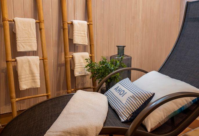 In unserem Saunarefugium lässt es sich ganz privat entspannen!