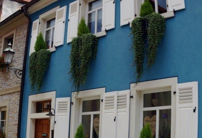 Das historische blaue Ferienhaus in der Altstadt