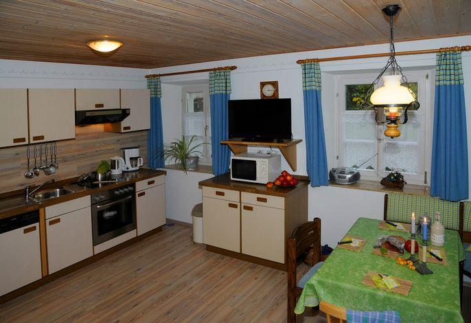 Whg Hopfenspross, gut ausgestattete Wohn- Essküche, Flachbildschirm