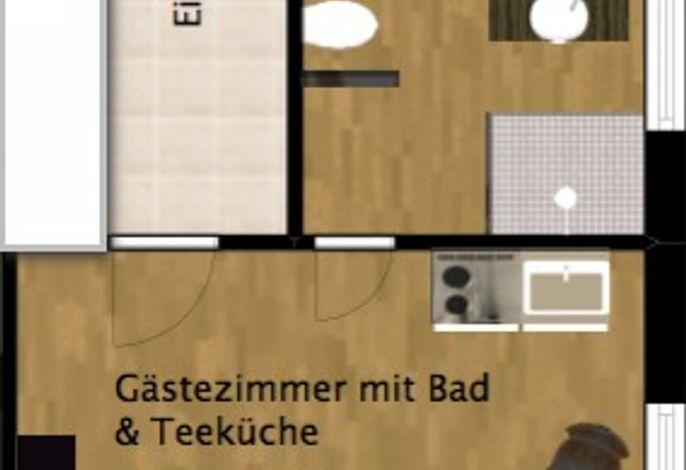 Donautaler Wohlfühloase - Doppelzimmer mit Teeküche