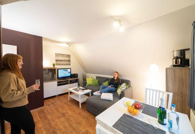 Ferienwohnung Kiebitz III Wohnzimmer