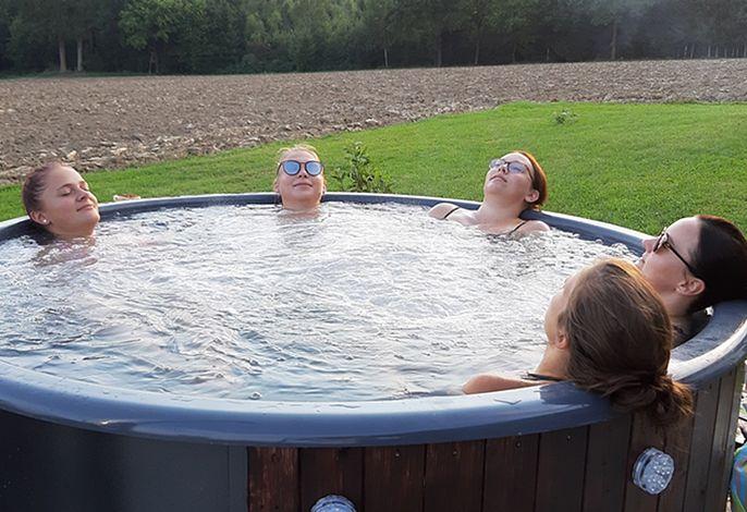 Relax im Badefass
