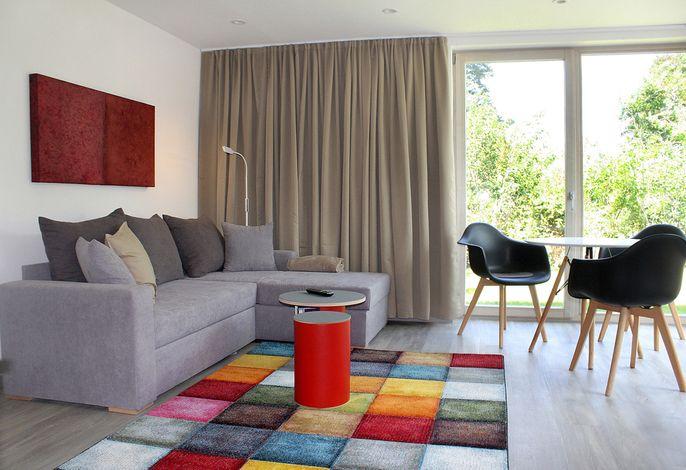 Cube House - Ferienhaus in Franken, Wohnraum