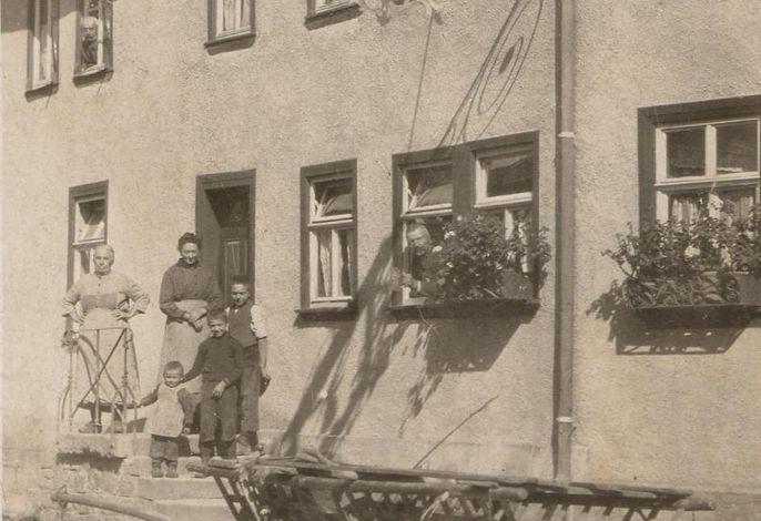 Gasthof Engel Steinbach - Hausfront um 1900