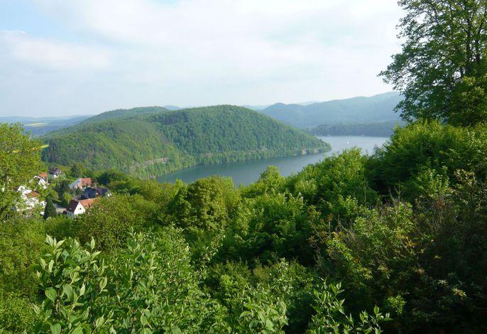 Blick von Waldeck auf den Edersee