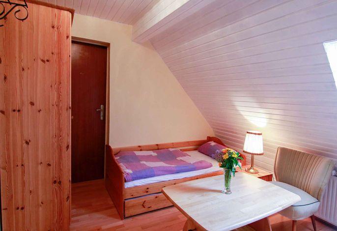Einzelbett, als Tandembett zum Doppelbett ausziehbar