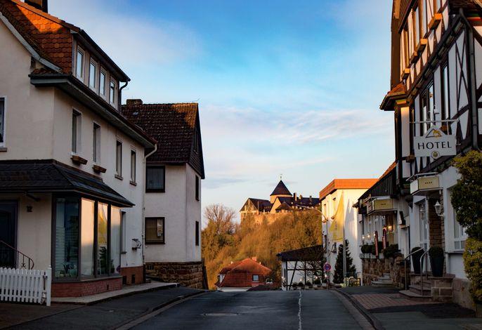 Gästehaus Seestern in der Altstadt mit Blick auf das Schloss