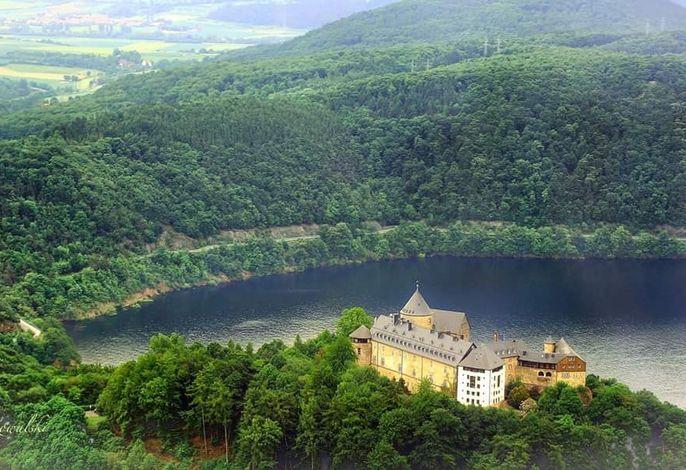 Blick auf das Schloss Waldeck