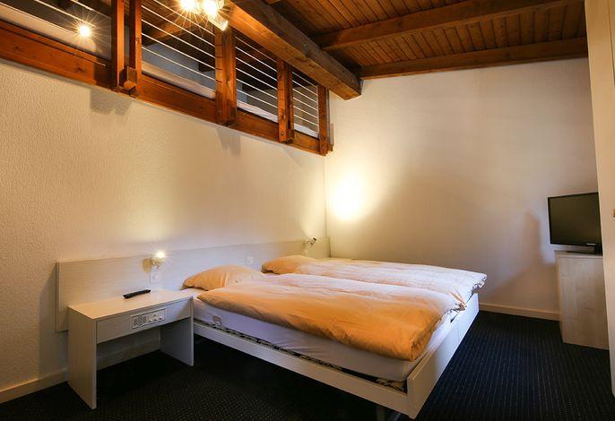 Doppelbett Galeriezimmer mit Dusche/WC