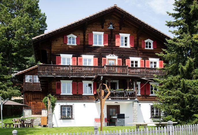 Chalet Riedji Furna Ferien Graubünden