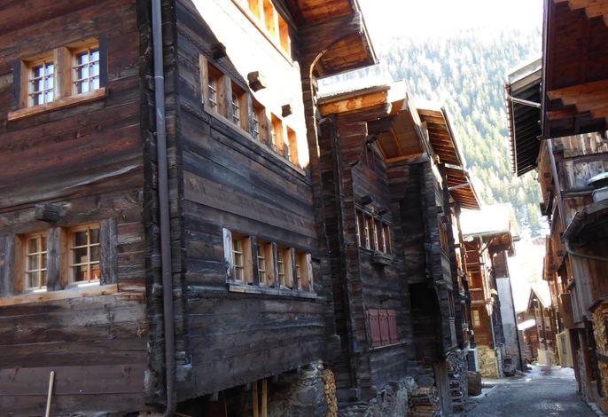 alte Häuser in Kippel