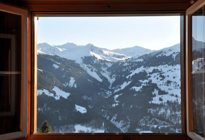 Chalet Ragälia, Fantastische Aussicht direkt vom Schlafzimmer