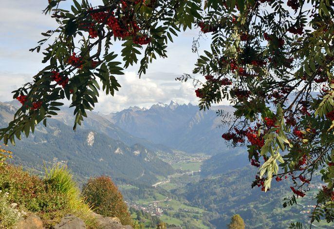 Chalet Ragälia, Aussicht in Richtung Klosters
