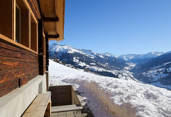 Nina Winter Aussicht Klosters