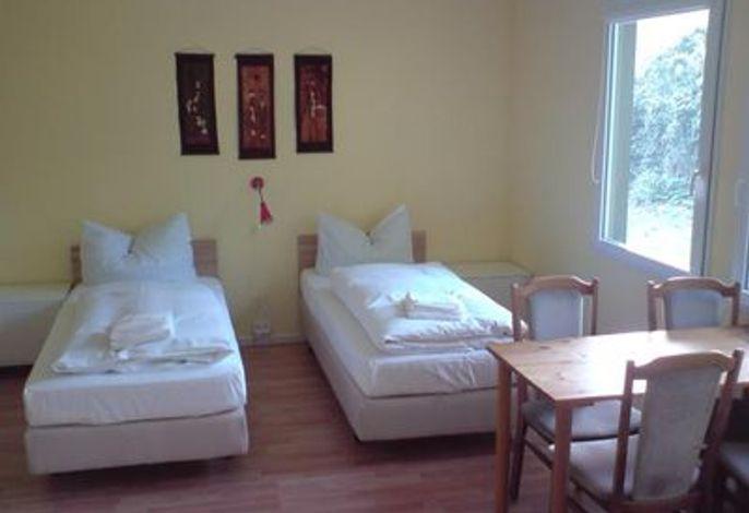 Schlafplätze im Vierbettzimmer