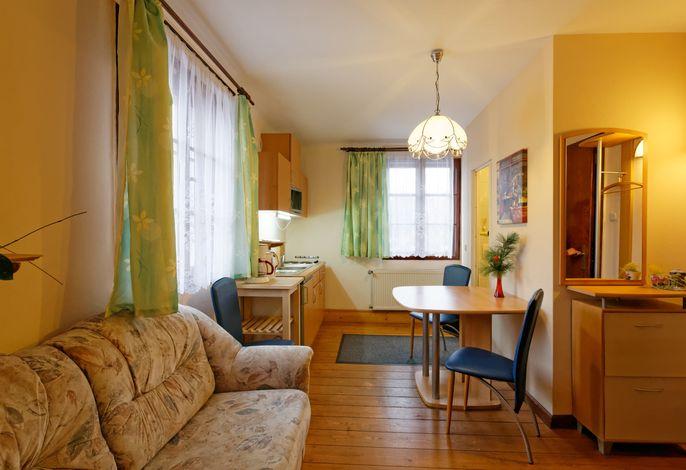 Apartment mit Terrasse Küche