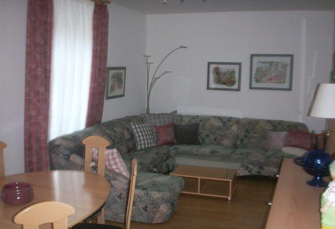 Das Wohnzimmer mit genügend Raum für Ihre Wünsche.