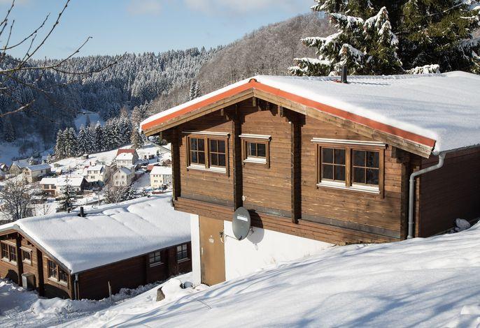 Winter in der Ferienhausanlage