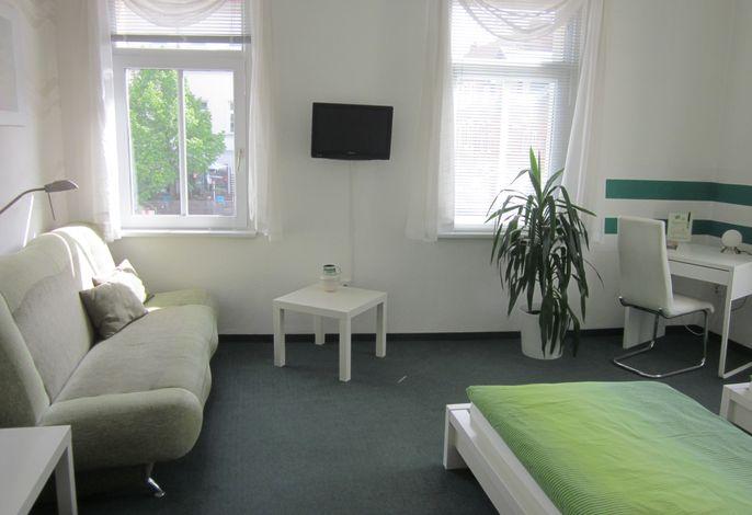 Zweibettzimmer grün