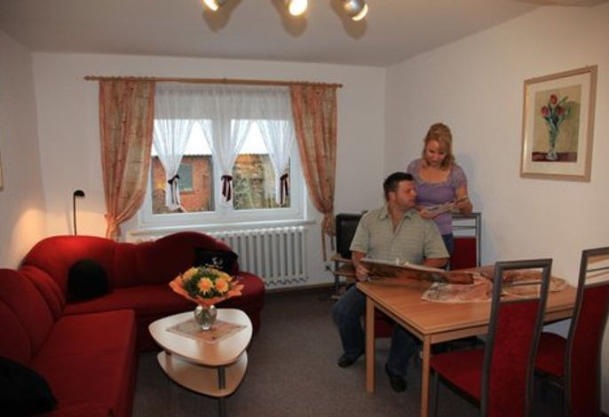 FW Rennsteig-Pension Wohnzimmer