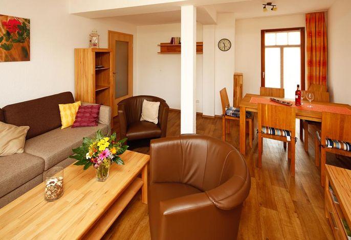 Wohnzimmer 4 Sterne Ferienwohnung Morgensonne Bad Berka, Weimarer Land, Thüringen